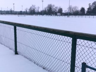north kildare snowy hockey astro pitch